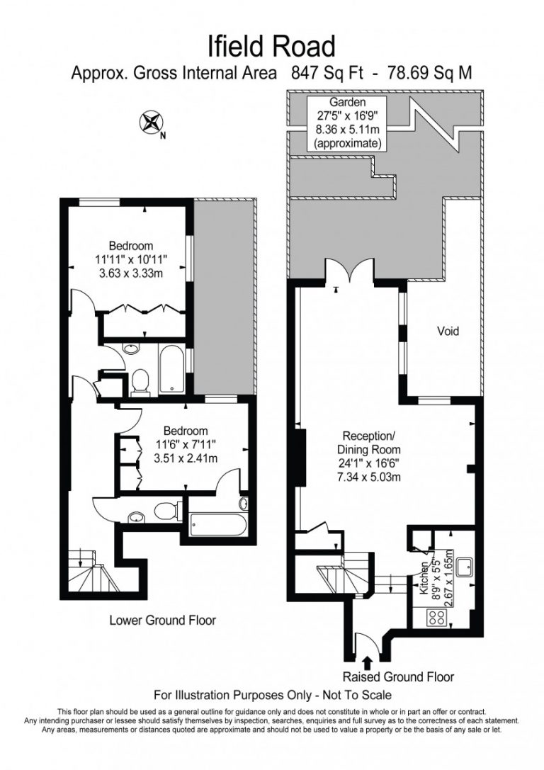 Floor Plan for Ifield Road SW10
