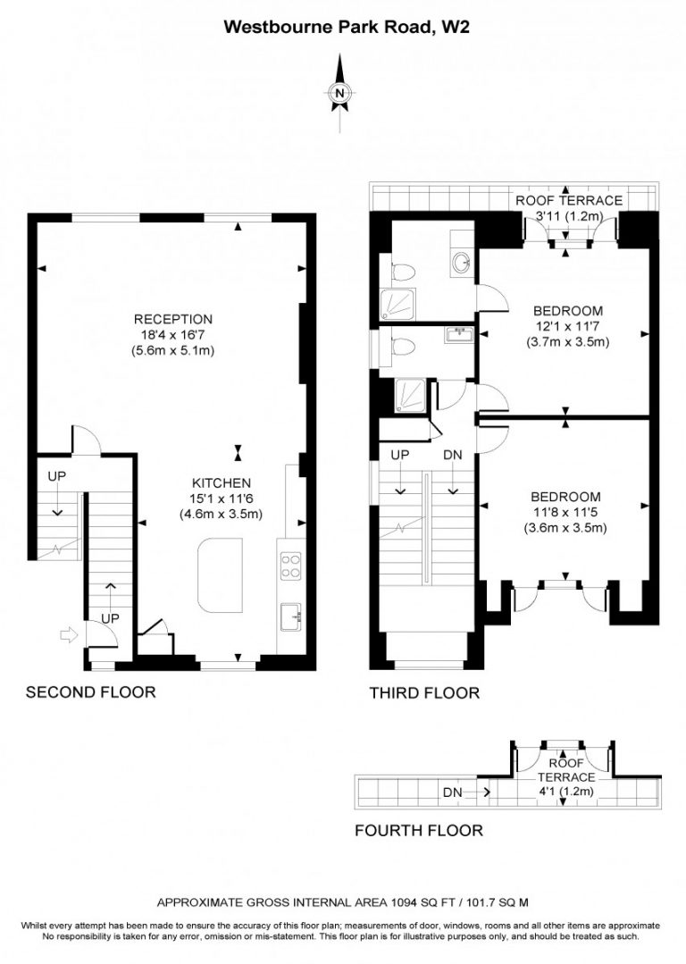 Floor Plan for Westbourne Park Road W2- OFF MARKET