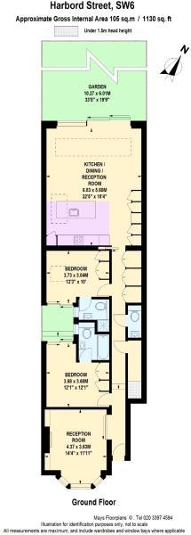 Floor Plan for Harbord Street, SW6 (Ground)