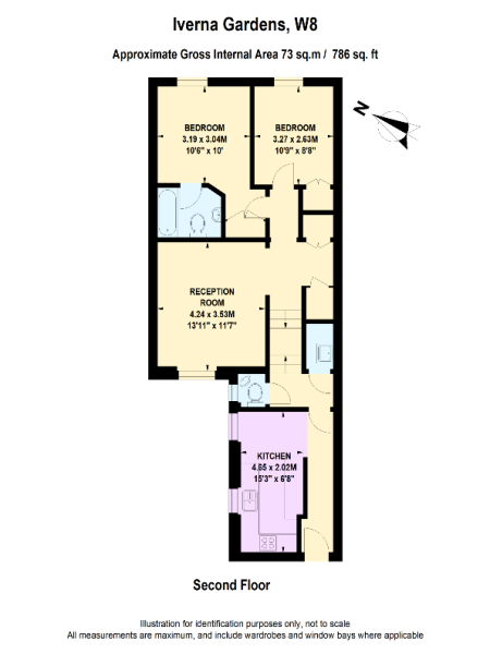 Floor Plan for Iverna Gardens, W8