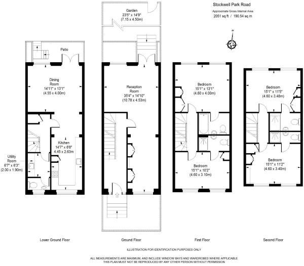 Floor Plan for Stockwell Park Road, SW9- UNDER OFFER