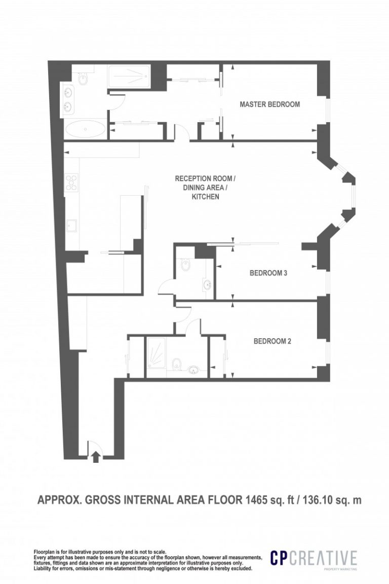 Floor Plan for Fitzroy Place W1