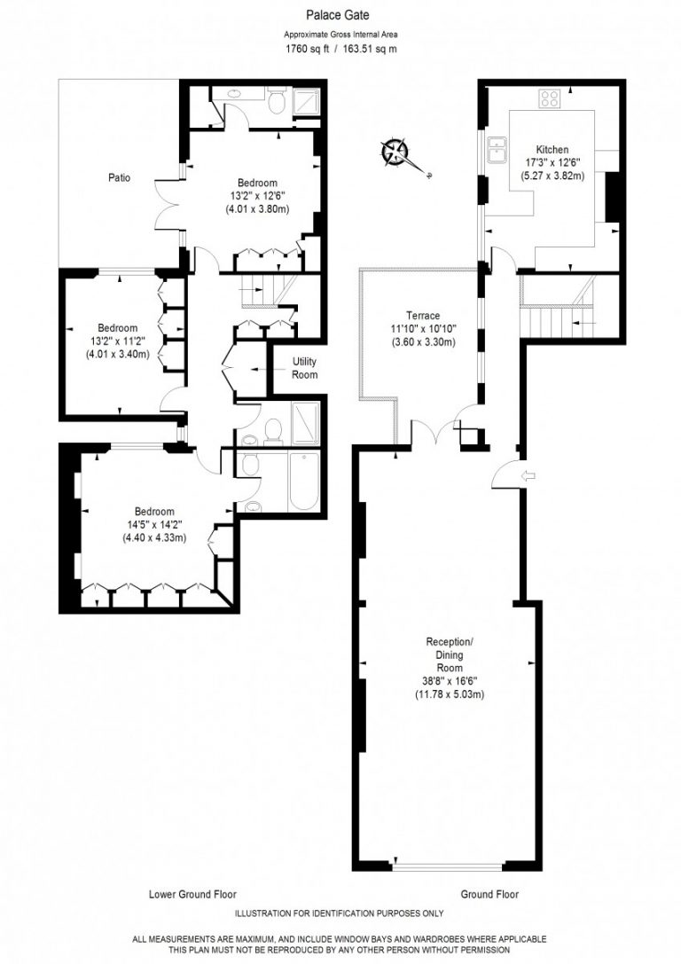 Floor Plan for Palace Gate W8