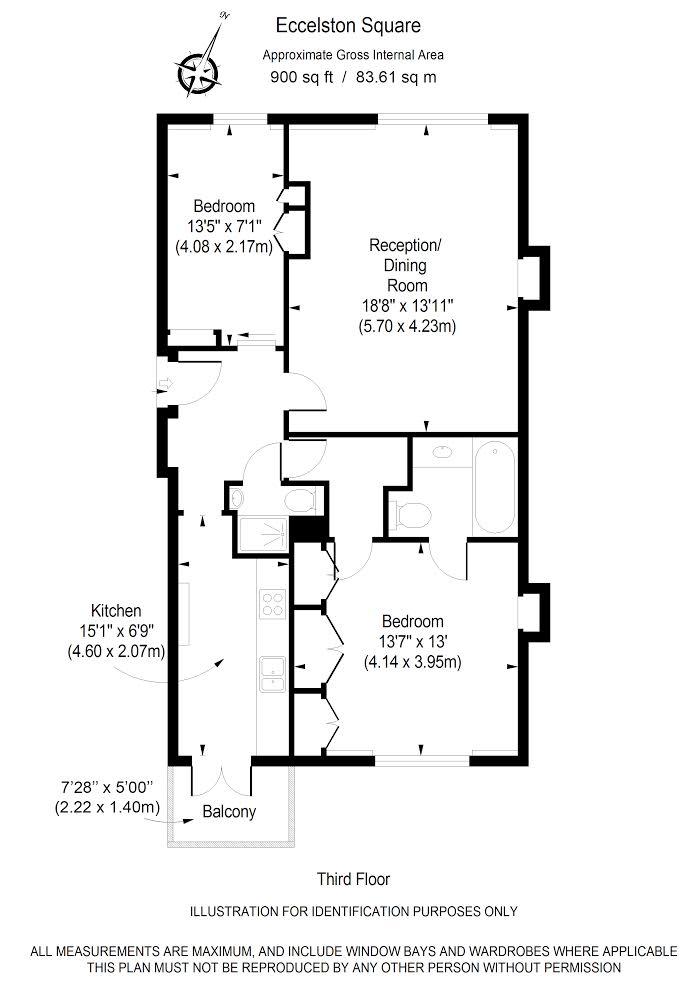 Floor Plan for Eccleston Square SW1