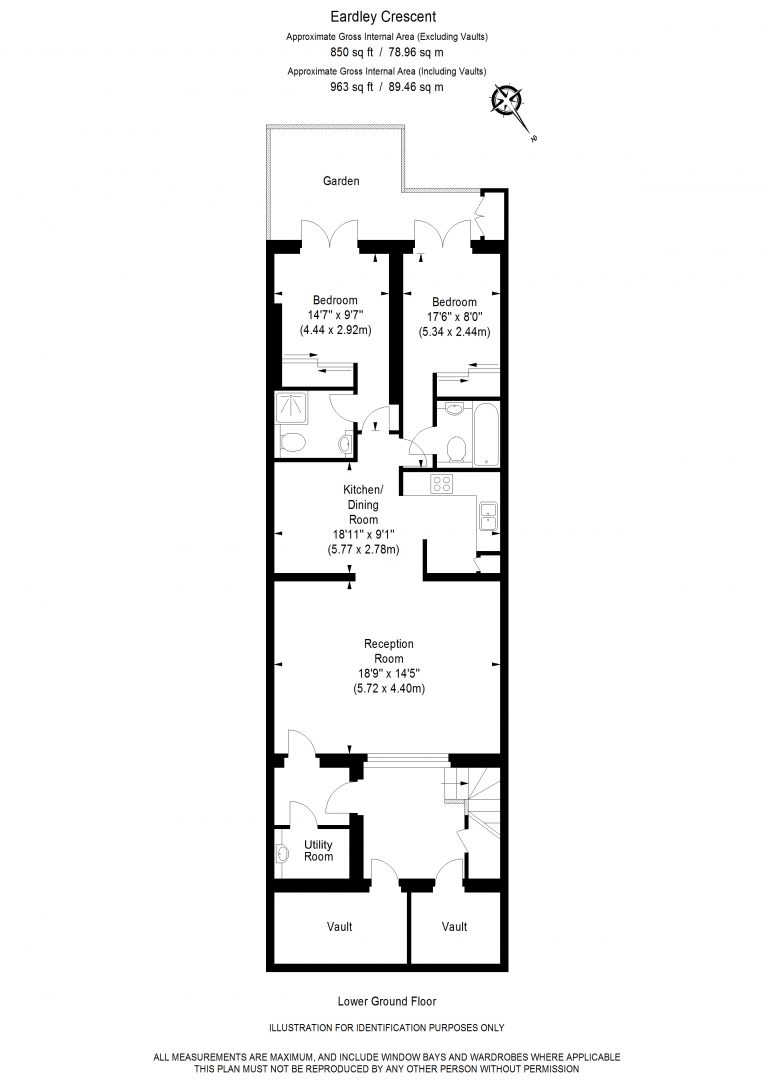 Floor Plan for NEW INSTRUCTION- EARDLEY CRESCENT SW5