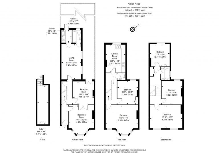 Floor Plan for KELLET ROAD- SW2- BRIXTON-OFF MARKET