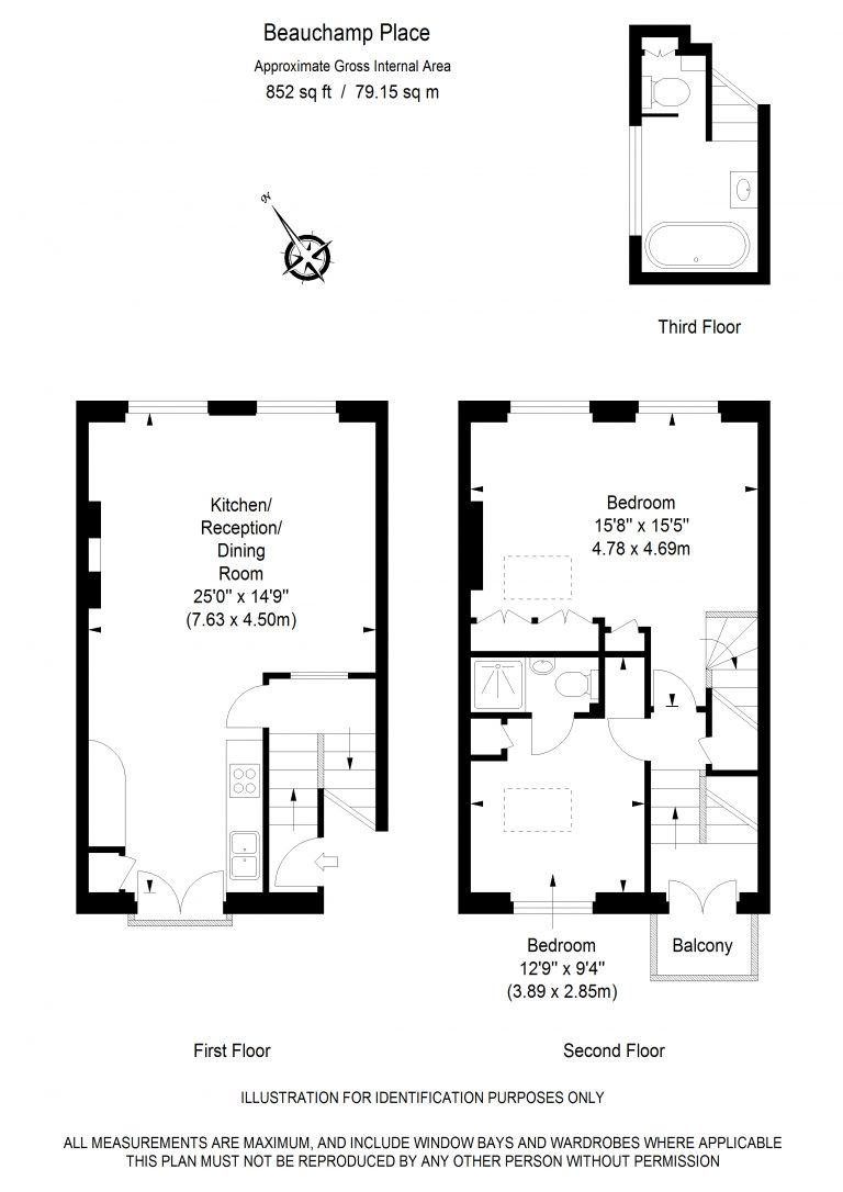 Floor Plan for NEW INSTRUCTION- BEAUCHAMP PLACE- SW3